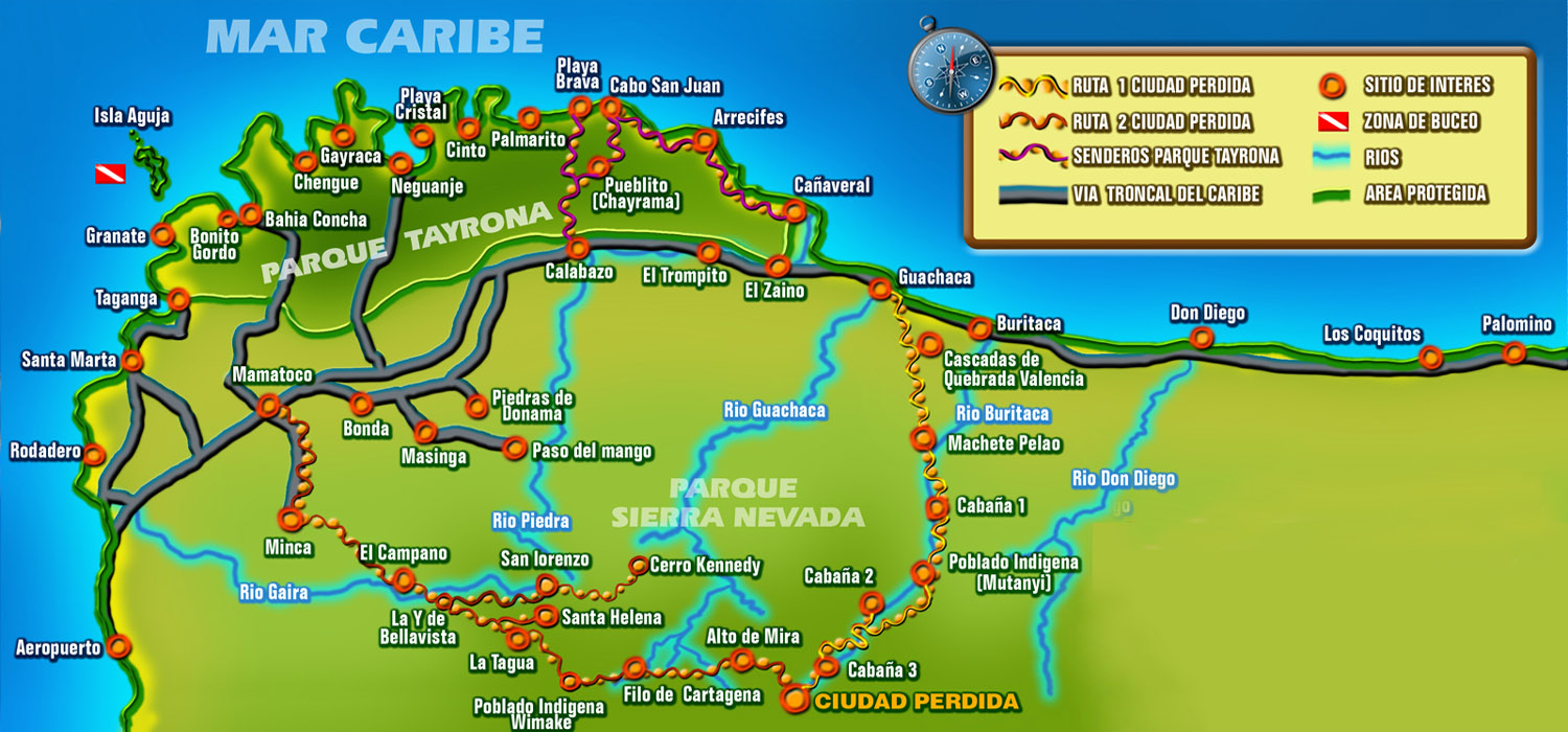 colombia map with Tayrona on 5695783123 further 5343230857 furthermore Colombie Best Of Ile De Providencia furthermore Latest furthermore Valle De Cocora Hiking Guide Salento.